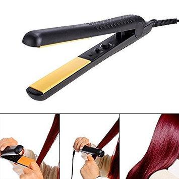 Creine Professional Hair Straightener Flat Iron Hair Care Beauty Flat Anti-Static Technology Adjustable Temperature, Black