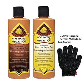 One 'n Only Argan Oil Moisture Repair Shampoo & Conditioner (12oz Set) with TS-2 SS204