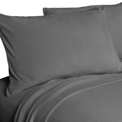 Berkshire Original Microfleece™ Full Sheet Set in Grey
