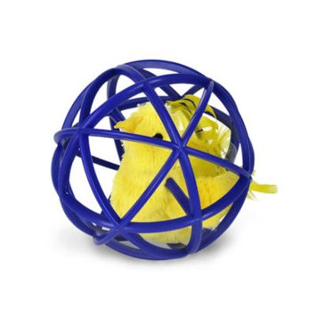 Horseloverz Ball Of Feathery Fury Motion Activated Cat Toy - Blue