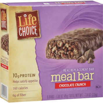 Life Choice Chocolate Crunch Meal Replacement, 5-Pack