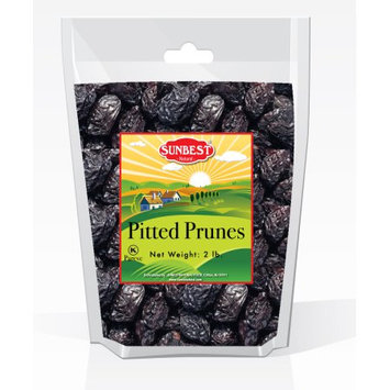 SUNBEST Pitted Prunes 2 Lbs in Resealable Bag