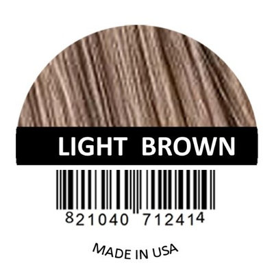 Hair Fibers by Samson Best Hair Loss Concealer Building Fibers Containers & Refills for all brand names Made in USA (Light Brown Refill)