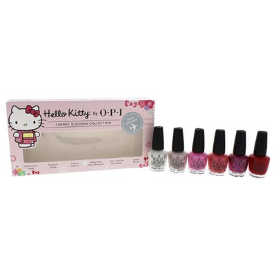 OPI W-C-11868 Nail Lacquer 6 x 3.75 ml Showered Mini Hello Kitty Cherry Blossom Collection for Women
