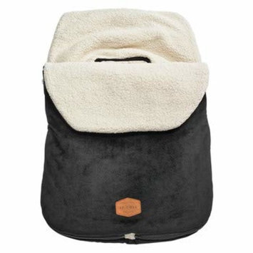 JJ Cole - Original Bundleme, Canopy Style Bunting Bag to Protect Baby from Cold and Winter Weather in Car Seats and Strollers, Blackout, Infant [Black Infant]
