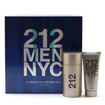 CAROLINA HERRERA 212 Men 3.4 Oz Edt Spray 3.4 Oz Shower Gel