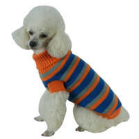The Pet Life Heavy Cable Knit Striped Fashion Polo Dog Sweater - 68740860018