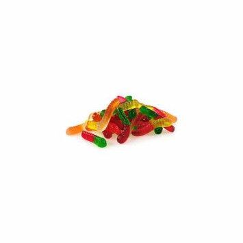 Mini Fruit Gummy Worms 1lb, No Color, One Size