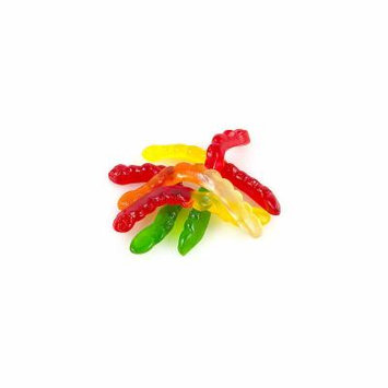 Assorted Gummi Worms 1lb, No Color, One Size