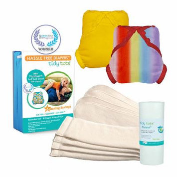 Tidy Tots Hassle Free 4 Diaper Essential Set with Rainbow and Marigold Covers, Unisex, Multi-colored, One Size