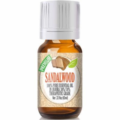 Healing Solutions Sandalwood Essential Oil, Clear, One Size