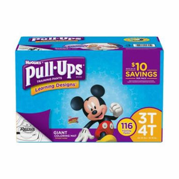 Huggies Pull-ups Training Pants for Boys Size 3T-4T (116 count)