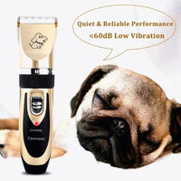 Professional Quiet Mute Electric Trimmer Clipper Shaver Grooming Kit Set for Pet Cat Dog Hair