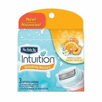 3 Pk Schick Women Intuition Razor Refil Tropical Citrus 3 Cartridges Ea(9 Total)