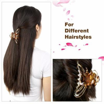 Plastic Hair Claw Set Strong Hold Hair Claw Set Crystal Hairline Claw Set, Perfect for Fixing Hair, Set of 4
