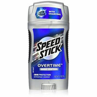 4 Pk Speed Stick Antiperspirant Deodorant Overtime Odor Control, Charcoal 2.7 Oz