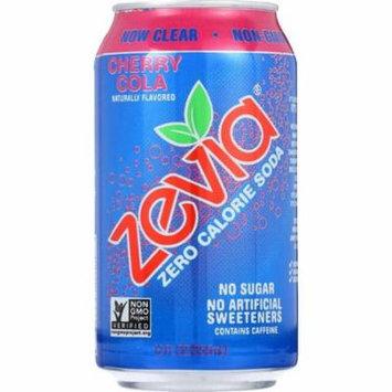 Zevia Soda - Zero Calorie - Cherry Cola - Can - 6/12 Oz - Pack of 4