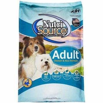 NutriSource Adult Dog Food Chicken & Rice Formula, 15 Lb