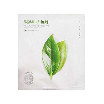 (3 Pack) NATURE REPUBLIC Real Nature Hydrogel Mask Green Tea : Beauty