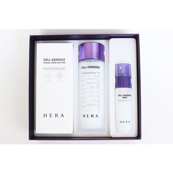 Hera Cell Essence Cell-Bio Fluid Sync 2.0 150ml 5 Oz 2016 New Version, Mist and Facial Care Cotton 60ea Special Gift Set 2016