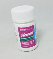 RUGBY DIPHENHIST 25MG CAP? DIPHENHYDRAMINE HYDROCHLORIDE-25 MG Pink/Clear 100 CAPLETS UPC