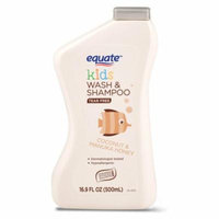Equate Kids Wash & Shampoo, Coconut & Manuka Honey, Tear Free, 16.9 Oz
