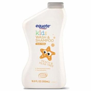 Equate Kids Wash & Shampoo, Peach & Pear Tree, Tear Free, 16.9 Oz