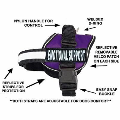 Emotional Support Nylon Dog Vest Harness. Purchase Comes with 2 Reflective Emotional Support Velcro pathces. Please Measure Your Dog Before Ordering (Girth 24-31