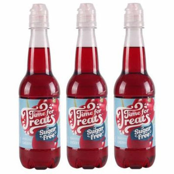 Pack of 3 Victorio Time for Treats Snow Cone Syrups 16.9oz Made in USA (Sugar Free Cherry)