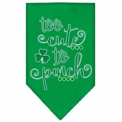 Too Cute to Pinch Screen Print Bandana Emerald Green Large