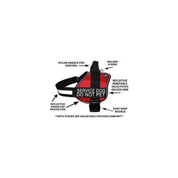 Doggie Stylz Service Dog Harness Vest Comes 2 Reflective Service Dog DO NOT PET Velcro Patches. Please Measure Dog Before Ordering (Girth 28-38