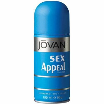 2 Pack - Jovan Sex Appeal Deodorant Body Spray, for Men 5.0 oz