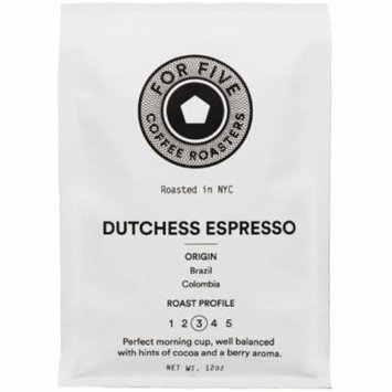2 Pack - For Five Dutchess Espresso Whole Bean 12oz