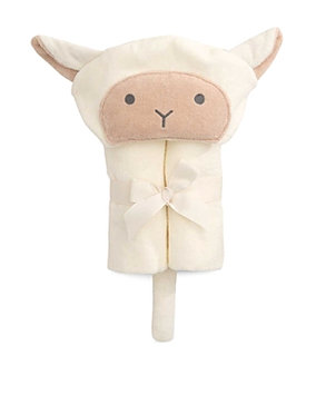 Infant Elegant Baby Velour Bath Wrap, Size One Size - White