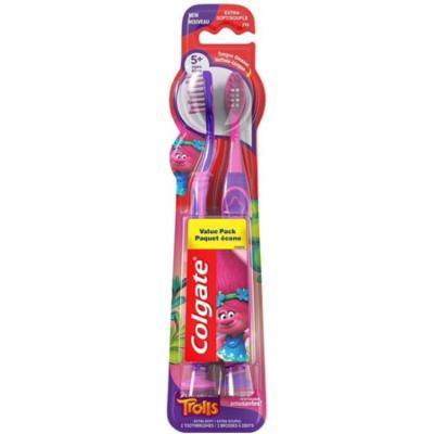 3 Pack - Colgate Kids Toothbrushes Trolls 2 ea