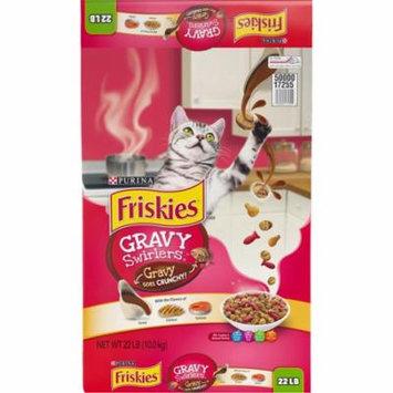 Purina Friskies Gravy Swirlers Dry Cat Food, 22 lb