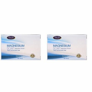 Life Flo Health - Magnesium Soap, Magnesium Chloride, Super Concentrated Bar Soap, 4.3 oz (121 g) - 2 Packs
