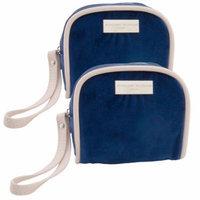 Adrienne Vittadini (2 Pack) In-Flight Mini Bags Travel Essentials Wipes Tissue Mask Ear Plugs Sewing Kit