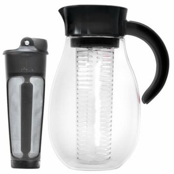Primula FlavorUp Cold Brew and Water Infusion Pitcher 2.7 Qt, Black