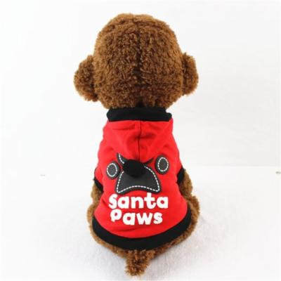 Mosunx New Puppy Christmas Dog Clothes Footprints Hoodie
