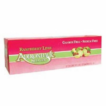 Naturals Adirondack Seltzer - Raspberry Lime - Case of 2 - 12 Fl oz.