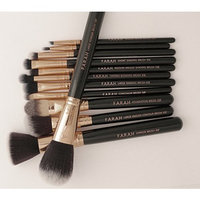 F.A.R.A.H 12 Piece Luxe Makeup Brush Set with Case (BLACK)