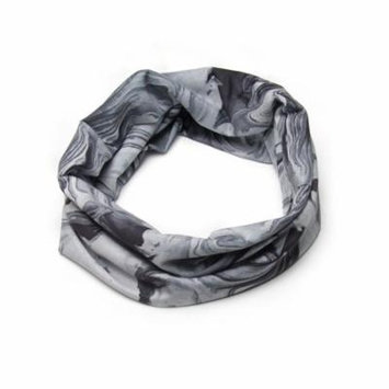 Banded Infinity Headwrap Melting Moon Black and Grey Boho Headband Bohemian Chic Hair Style