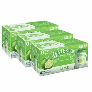 Waterloo Sparkling Water, Lime, 12 Fl Oz, 24 Ct