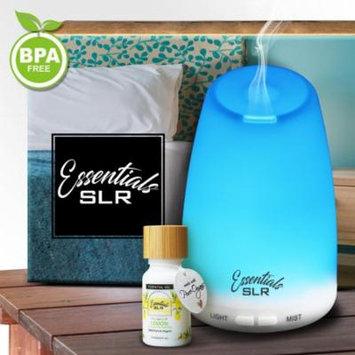 SLR 120ml Aromatherapy Essential Oil Ultrasonic Diffuser BPA Free w/ Lemon Rapture 10ml Essential Oil - USDA Certified Organic 100% Pure Therapeutic Grade