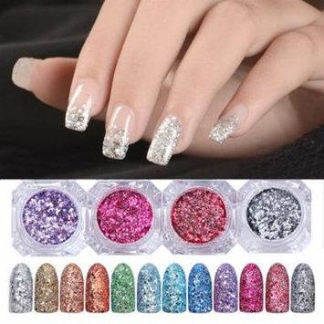 12 Colors Nail Art Glitter Powder Holographic Laser Sequin Pigment Manicure DIY