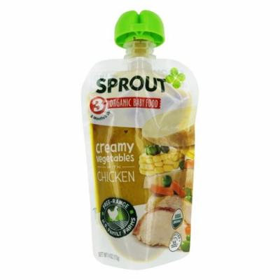 Sprout - Organic Baby Food Stage 3 8 Months Creamy Vegetables with Chicken - 4 oz.
