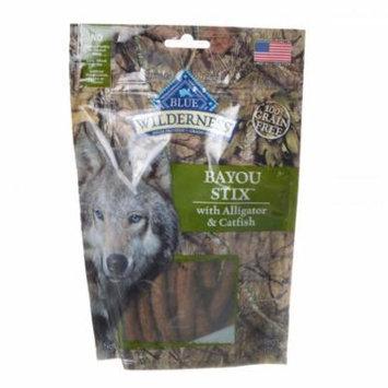 Blue Buffalo Wilderness Bayou Stix Dog Treats - Alligator Catfish 6 oz - Pack of 2