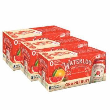 Waterloo Sparkling Water, Grapefruit, 12 Fl Oz, 24 Ct