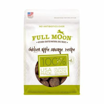Full Moon All Natural Human Grade Dog Treats, Chicken Apple Sausage, 10 Ounce